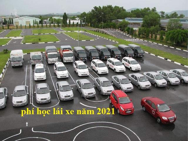 phí học lái xe năm 2021